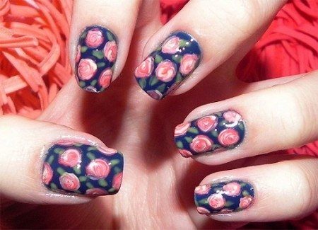 Unhas Decoradas com Estampas Florais