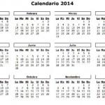 Calendário 2014 para Imprimir