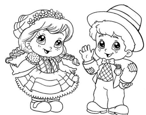 Desenhos Festa Junina para Colorir