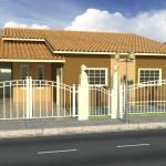 Frentes e fachadas de casas simples
