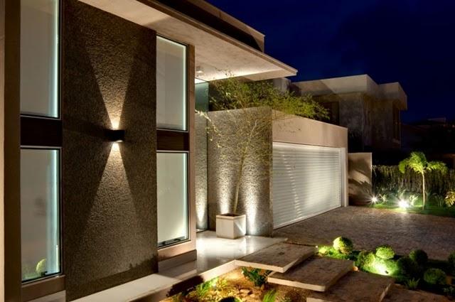 Muros e fachadas de casas modernas Fachadas de entradas de casas modernas