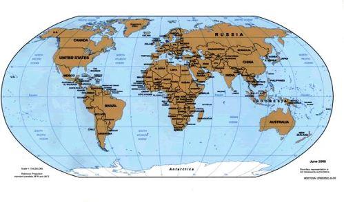 Mapa Mundi Atual