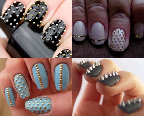 unhas decoradas com spikes