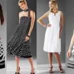 vestidos com estampas preto e branco