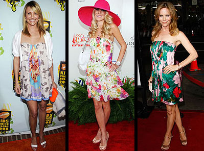 Vestidos florais 2013, modelos curtos